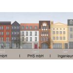 Marktquartier q2-Fassadenabwicklung Westseite